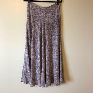 Jones New York long skirt silk paisley 10 twirly